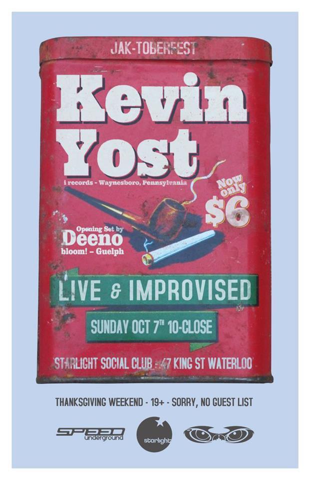 SPEED UNDERGROUND PRESENTS: KEVIN YOST