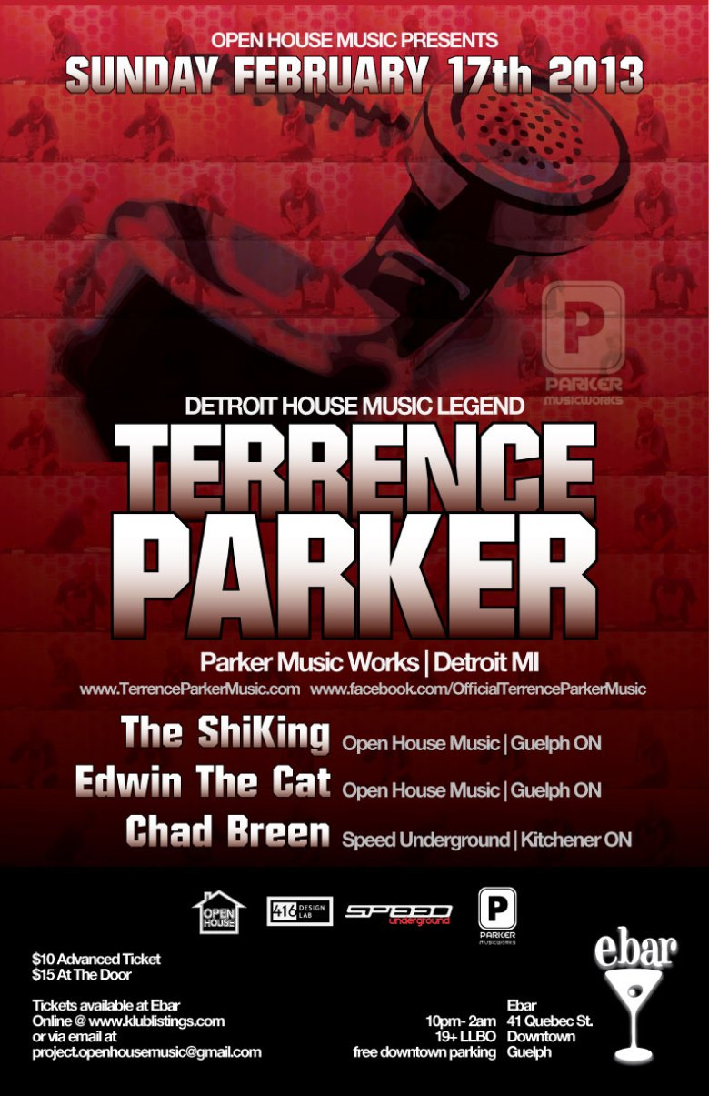 OPEN HOUSE MUSIC PRESENTS : DJ TERRENCE PARKER
